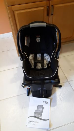 Britax B safe rear-facing car seat, for children 4lbs to 30lbs for Sale in Plantation, FL