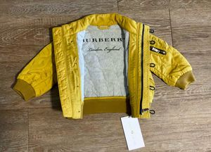 Burberry yellow unisex jacket 6-9 months NWT for Sale in Raleigh, NC