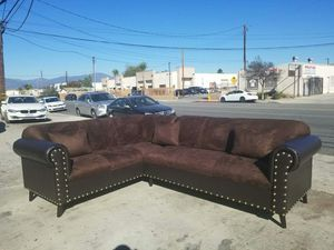 NEW 7X9FT DARK BROWN MICROFIBER SECTIONAL COUCHES for Sale in Monterey Park, CA