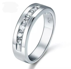 Round Cut Men's Bridal Wedding Band Solid 925 Sterling Silver Ring for Sale in Wichita, KS