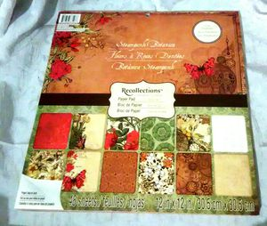 NEW Recollections Steampunk Botanica 48 Sheet 12 x 12 Cardstock Paper Pad - Glitter & Foil Treatments for Sale in Largo, FL