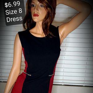 Maroon & Black Dress Size 8 for Sale in Hemet, CA
