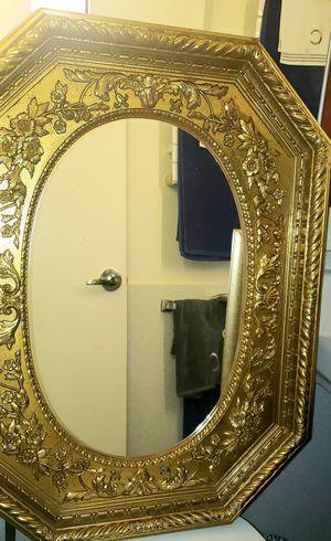 Home Interiors Golden Hexagon Mirror for Sale in Boston, MA
