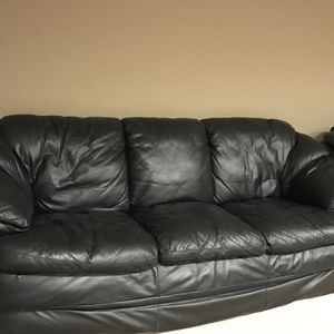 Leather Sofa, Love Seat And Chair for Sale in Lilburn, GA