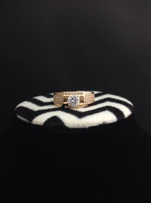 Men's ring plated gold 14k | shipping and pickup | Rhinestones all around for Sale in Perris, CA