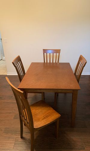 Wood table and chairs for Sale in DeLand, FL