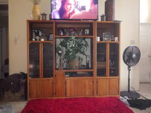 Solid Wood Entertainment Center $125.00 TODAY NEED GONE for Sale in Alvin, TX