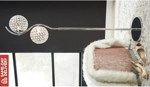 Winter Clear/Silver Finish Metal Floor Lamp for Sale in Houston, TX