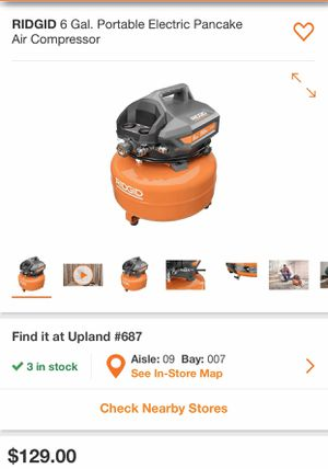 RIDGID AIR COMPRESSOR for Sale in Bakersfield, CA