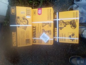 Brand New DeWalt 20v Max Drill Impact Kit with 20v Max Circular Saw DeWalt 20 v Brushless Impact Driver Kit for Sale in Mill Creek, WA