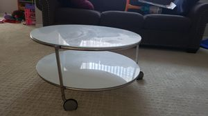 Ikea white round coffee table for sale for Sale in Milpitas, CA
