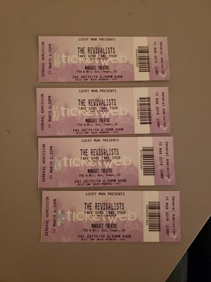 Tickets for The Revivalists tonight for Sale in Tempe, AZ