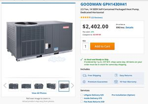 Goodman Heat Pump for Sale in Yorktown, VA