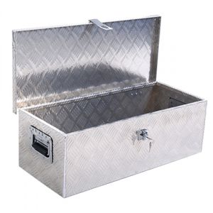 New - 30 inches Aluminum Truck Pickup Bed Trailer Lockable Tool Box with Lock for Sale in Miami, FL