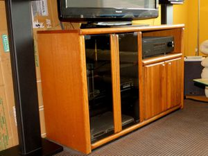 Retro Entertainment Center Cabinet and Bookshelves for Sale in San Rafael, CA
