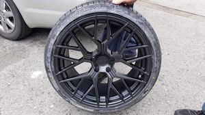 "20"" blk new rims tires set 5x114.3 for Sale in Hayward, CA"