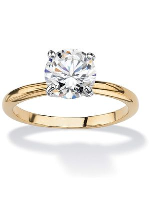 18K Yellow Gold Plated Round Engagement Promise Ring for Sale in Clovis, CA