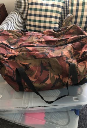 Very large camouflage duffle bag for Sale in Baltimore, MD