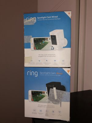 2 Ring Spotlight cameras (wired) for Sale in Commerce City, CO