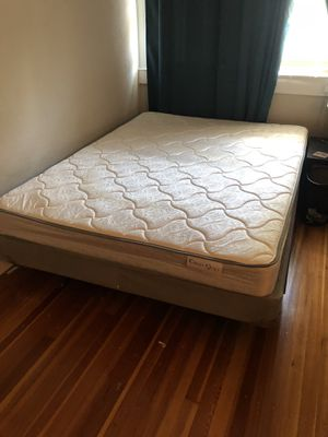 Queen mattress, boxspring and frame for Sale in Greenville, NC