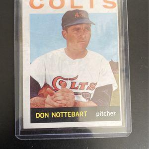 1963 Don NotteBart Baseball card for Sale in Pompano Beach, FL