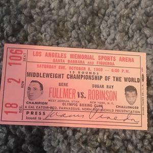 ORIGINAL 1960 FULLMER VS ROBINSON TICKET for Sale in Rialto, CA