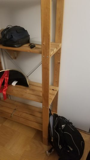 4 shelf wooden storage rack for Sale in New York, NY