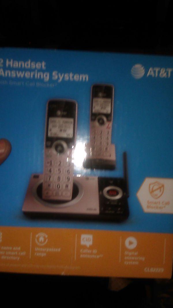 2 handset answering system w smart block