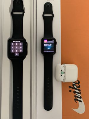 2 Apple series 3+cellular watches 42mm and gently used AirPods for Sale in Taylor, MI