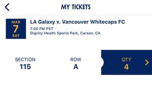 LA Galaxy vs Vancouver Whitecaps FC Tickets for Sale in Gardena, CA