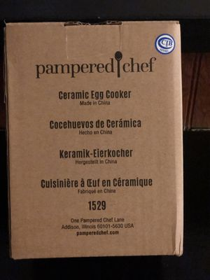Pampered Chef Ceramic Egg Cooker for Sale in Port St. Lucie, FL