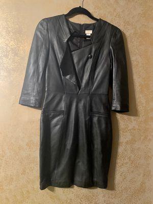 H&M black leather tuxedo dress size 4 for Sale in Woodstock, GA