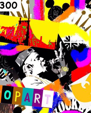 5FT X 4FT Wall Street POP Art Canvas Painting Graffiti Urban Abstract Acrylic Collage Wood Frame Cotton Panel Paint music singer star for Sale in Palm Beach Gardens, FL