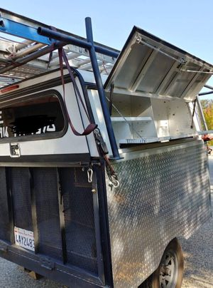 Utility trailer with A R E locking toolboxes for Sale in Yuba City, CA