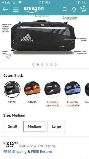 Adidas duffle bag for Sale in Fraser, MI
