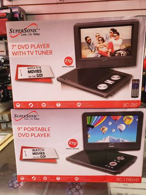 """7"""" PORTABLE DVD $39.00. 9"""" $49.00. SWEVELING SCREEN. BRAND NEW for Sale in Los Angeles, CA"""