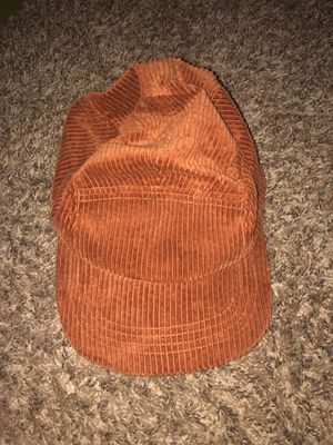 "NEVER WORN ""original use"" dark orange corduroy cap for Sale in Denton, TX"