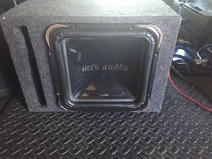 Mtx TS55 subwoofer with built in Rockford Fosgate 500-1 Class D mono amp - ALL IN ONE BASS for Sale in Tempe, AZ