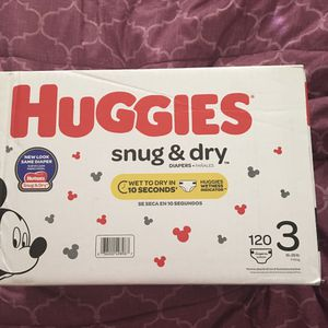 Huggies Size 3 120 Diapers for Sale in Bakersfield, CA