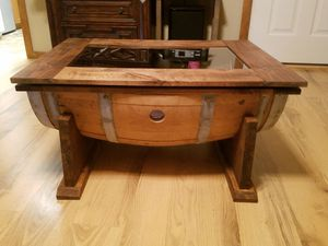 Wine barrel coffee table for Sale in Red Oak, TX