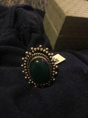 German silver green onyx size 8 for Sale in Marietta, GA