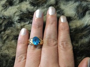 Gorgeous heavy 10k solid gold topaz ring for Sale in Springfield, PA