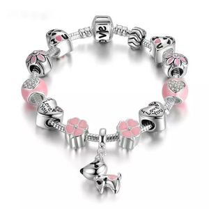 DOG Pink Heart Flower Charms Bracelets (20 cm long ) (SHIPPING ONLY 📦📬 NO LOCAL PICK UPS) for Sale in Los Angeles, CA