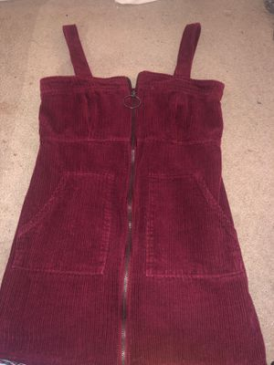 Forever 21 Pull-Ring Corduroy Overall Dress- size M for Sale in Fontana, CA