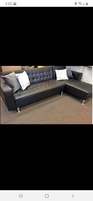 New black leather sectional futon for Sale in Austin, TX