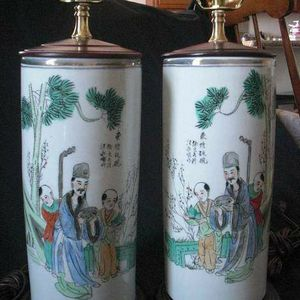 A pair of Chinese antique porcelain table lamps for Sale in Lake Elsinore, CA
