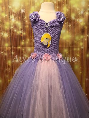 Rapunzel tutu dress with purple LED lights for Sale in Houston, TX