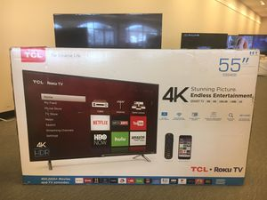 "TCL 55"" CLASS 4-SERIES 4K UHD HDR ROKU SMART TV - 55S405 for Sale in Schaumburg, IL"