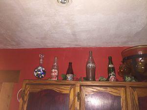 All vintage sofa bottles and vintage punch bowl for Sale in Greenwood, WV