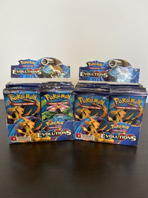 Opened XY Evolutions Booster Packs for Sale in New Bedford, MA